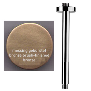 Ceiling shower arm 10 cm bronze brushed-finished for shower head,<br>AN: A5571063