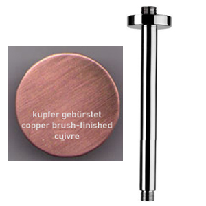 Ceiling shower arm 10 cm copper brushed-finished for shower head,<br>AN: A5571064