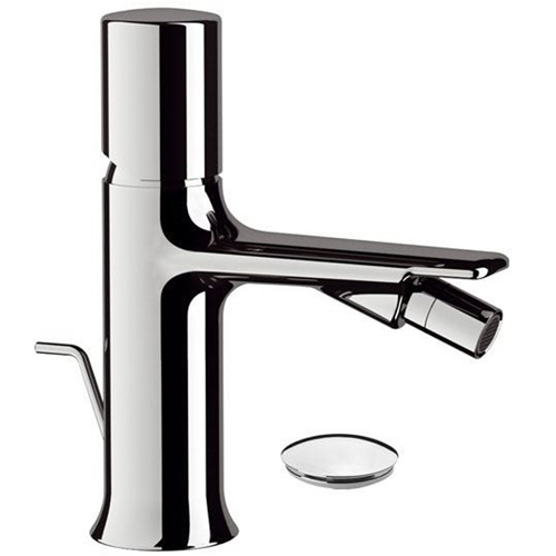 Single lever bidet mixer shiny chrome with pop-up waste<br>AN: FU604CR