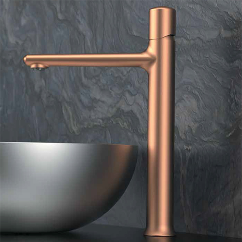 High single lever washbasin mixer anodised copper<br>AN: FU607BRPO