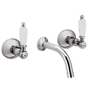 3-holes built-in washbasin mixer chrome with white handles,<br> AN: RT5022CR
