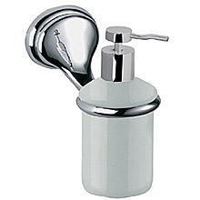 Nostalgic wall mounted ceramic liquid soap dispenser with holder chrome<br>AN: REDI954CR
