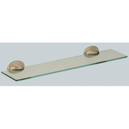 Nostalgic wall mounted glass shelf with holder bronze brush-finished<br>AN: REME90063