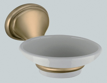 Nostalgic wall mounted ceramic soap dish with holder bronze brush-finished<br>AN: REPS95063