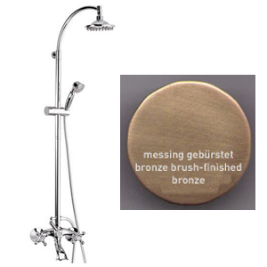 2-handle bathtub mixer with combi-shower column bronze brushed-finished,<br>AN:  V41368963