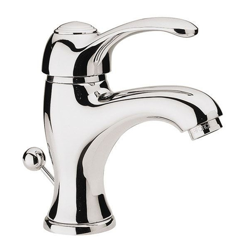 Single lever washbasin mixer chrome with pop-up waste,<br>AN: V605CR