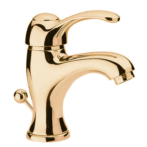 Single lever washbasin mixer gold with pop-up waste,<br>AN: V605DO