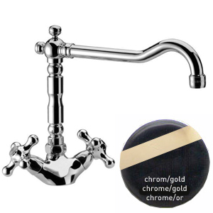 2-handle mixer for kitchen or bathroom chrome/gold,<br>AN: V7114CRDO