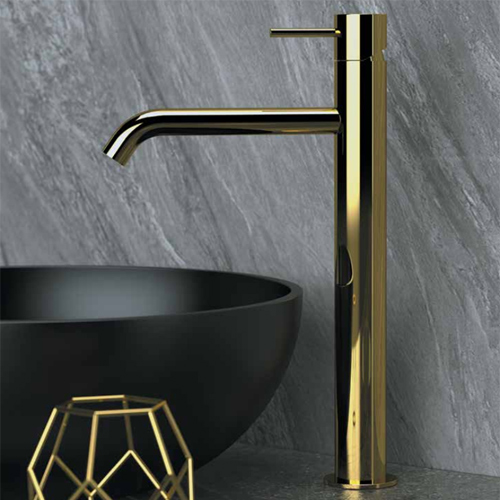 High single lever washbasin mixer shiny gold<br>AN: TK607BDO