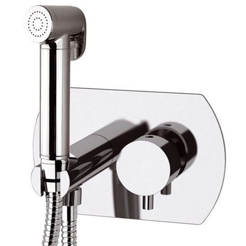 Built-in single lever bidet mixer with shut-off shower chrome, <br>AN: TK6424DCCR