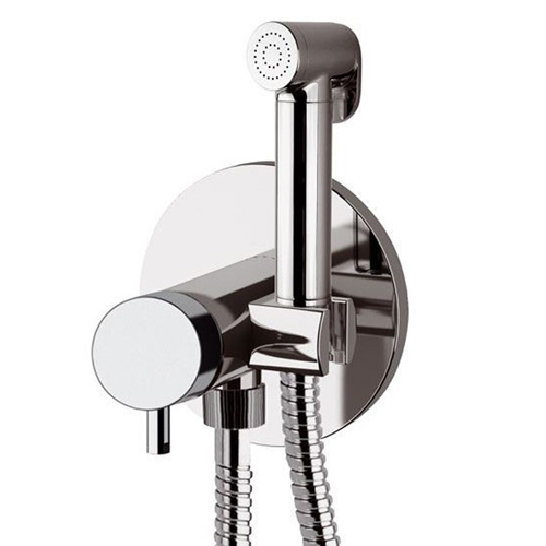 Built-in single lever bidet mixer with shut-off shower chrome, <br>AN: TK6454DCCR