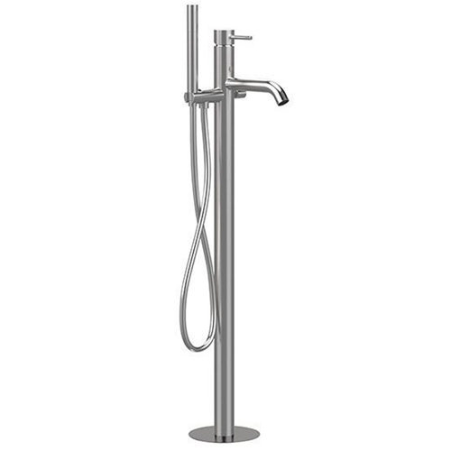 Floor mounting single lever bathtub mixer entirely produced in stainless steel with shower set<br>AN: SSTX678