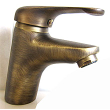 Single lever washbasin mixer bronze San Marco with pop-up waste,<br> AN: VE13605SM