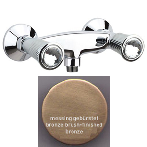2-handle shower mixer bronze brush-finished with original Swarovski Crystal handle,<br>AN: 13ZZ0613