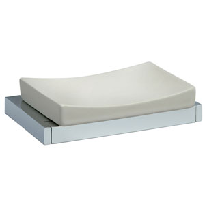 Ceramic soap dish chrome,<br>AN: 19CRC011