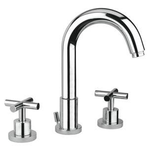 3-hole 2-handle washbasin mixer chrome with pop-up waste,<br>AN: 25CR0528