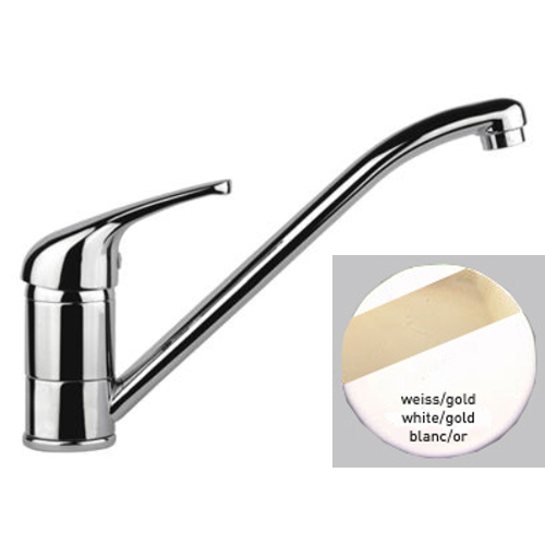 Single lever sink mixer white / gold,<br>AN: 39BO4110