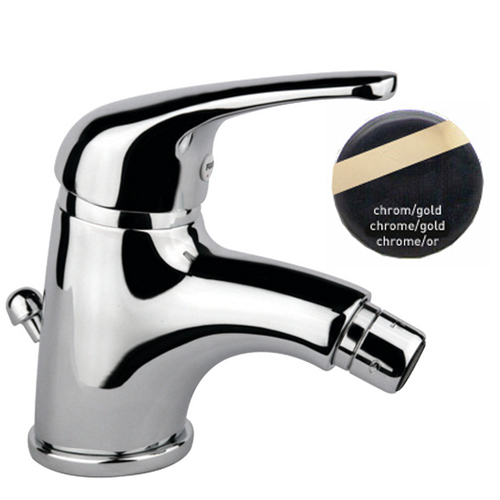 Single lever bidet mixer chrome / gold with pop-up waste,<br>AN: 39CO3210