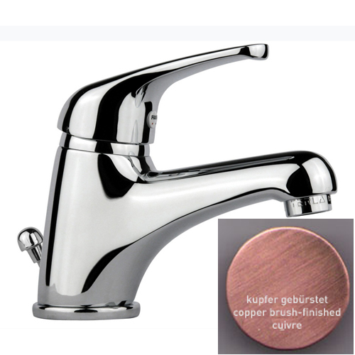 Single lever washbasin mixer copper brush-finished with pop-up waste,<br>AN: 39RR2210