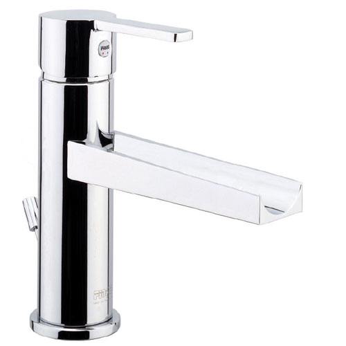 Cascade single lever washbasin mixer with long spout chrome and pop-up waste, <br>AN: 44CR5265