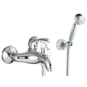Single lever bathtub mixer chrome with shower set,<br> AN: 47CR5103