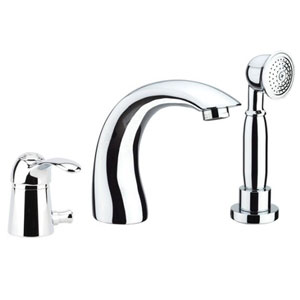 3-holes deck mounted bath mixer with spout chrome,<br>AN: 47CR5105