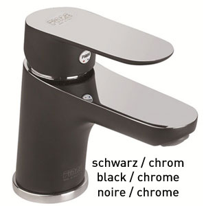 Single lever washbasin mixer black / chrome with pop-up waste, <br>AN: 81BX8120