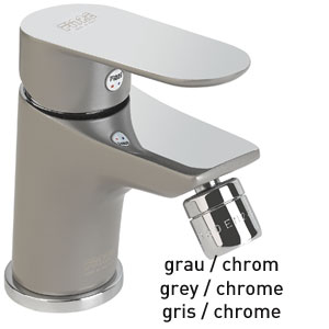 Single lever bidet mixer grey / chrome with pop-up waste, <br>AN: 81GX8130