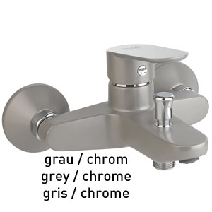 Single lever bathtub mixer grey / chrome, <br>AN: 81GX8152