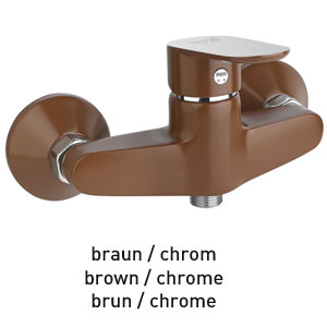 Single lever shower mixer brown / chrome, <br>AN: 81MX6511