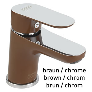 Single lever washbasin mixer brown / chrome with pop-up waste, <br>AN: 81MX8120