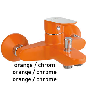 Single lever bathtub mixer orange / chrome, <br>AN: 81OX8152