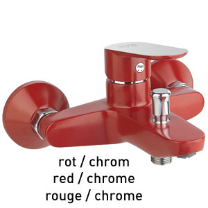 Single lever bathtub mixer red / chrome, <br>AN: 81RX8152