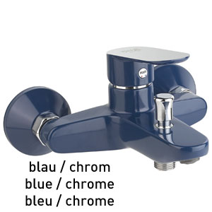 Single lever bathtub mixer blue / chrome, <br>AN: 81TX8152