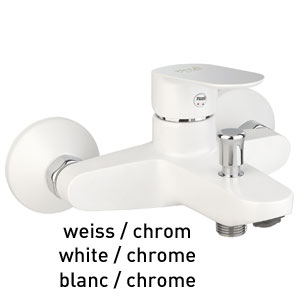 Single lever bathtub mixer white / chrome, <br>AN: 81WX8152