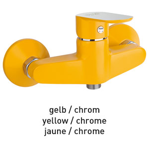 Single lever shower mixer yellow / chrome, <br>AN: 81YX6511