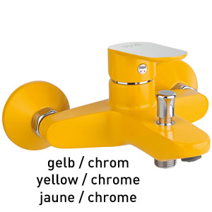 Single lever bathtub mixer yellow / chrome, <br>AN: 81YX8152