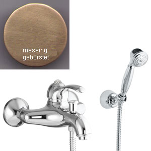Single lever bathtub mixer bronze brushed-finished with Swarovski Crystal and shower set,<br> AN: 84ZZ5103