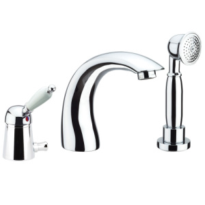 3-holes deck mounted bath mixer with spout chrome,<br>AN: 83CR5105