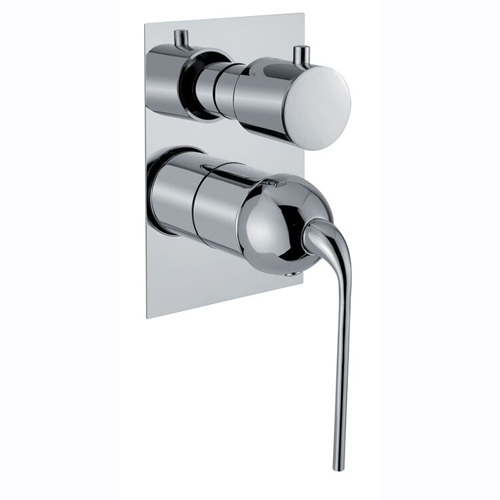 3-ways built-in shower mixer with diverter chrome for bath or shower,<br>AN: 87CR7501
