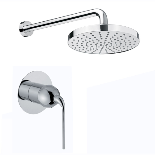 Single lever built-in mixer chrome with rain shower,<br>AN: 87CR7563
