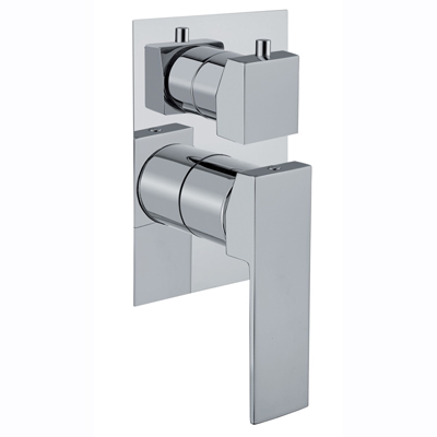 3-ways built-in shower mixer with diverter chrome for bath or shower,<br>AN: 100CR7501