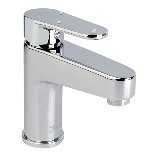 Single lever washbasin mixer chrome, handle with Swarovski Crystals and pop-up waste,<br>AN: 78CR6520