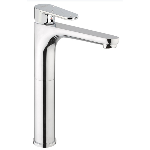Extra high single lever washbasin mixer chrome, handle with Swarovski Crystals and pop-up waste,<br>AN: 78CR8126
