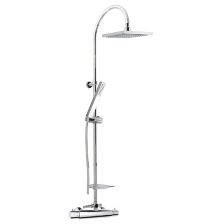 Thermostatic shower mixer with column, shower head and handshower chrome,<br>AN: 31CR0983
