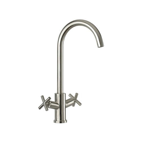 Stainless steel 2-handle sink mixer,<br>AN: 304X43