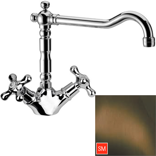 Nostalgic 2-handle sink mixer San Marco brass,<br>AN: 43LIACESM
