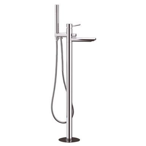 Single lever bathtub mixer for floor mounting chrome with shower set,<br>AN: N08