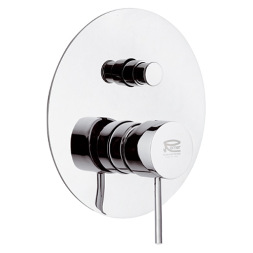 Single lever built-in mixer chrome with diverter for shower or bath,<br>AN: N09L2