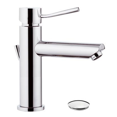 Single lever washbasin mixer long spout chrome with pop-up waste,<br>AN: N10A